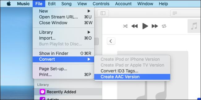 Créez une version AAC de votre clip audio