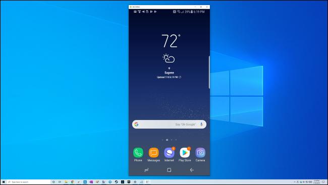 Зеркальное отображение экрана телефона Samsung Galaxy на рабочем столе Windows 10 через USB