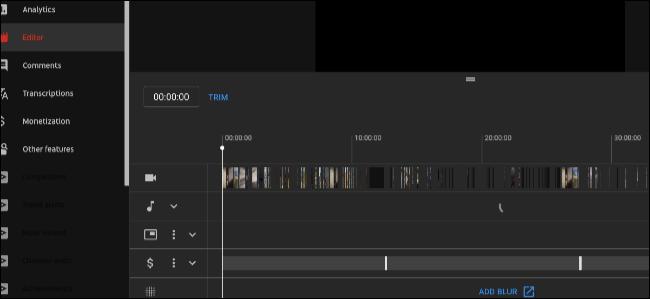 YouTube редактор видео