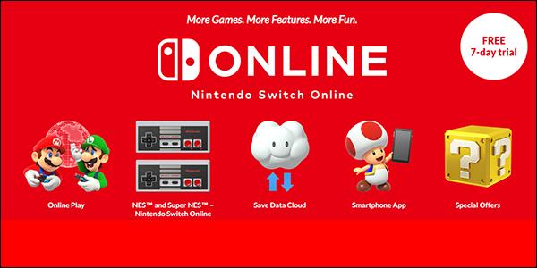 Подписной веб-сайт Nintendo Switch.