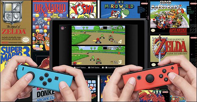 Два набора рук держат игру Nintendo Switches