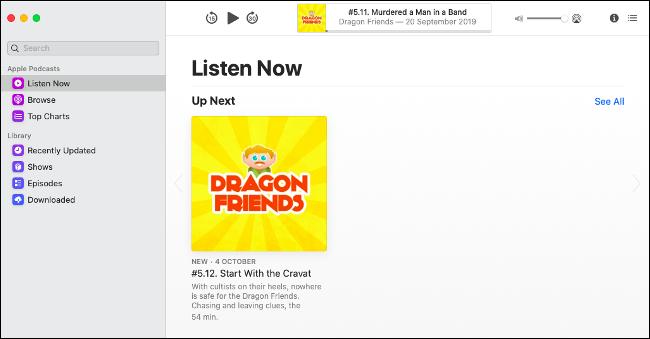 macOS Catalinaの新しいポッドキャストアプリ
