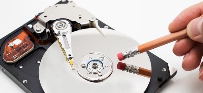 Метафора удаления данных с жесткого диска