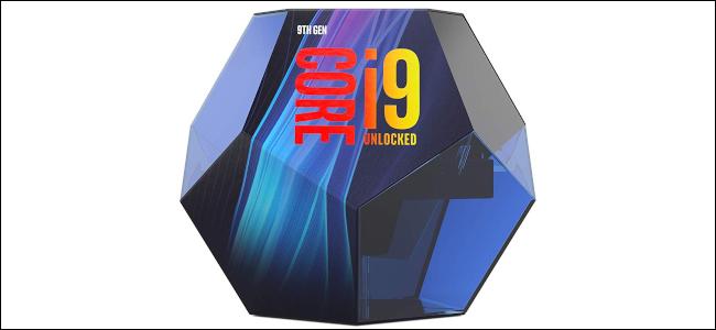Розничная упаковка для процессора Intel Core i9-9900K.