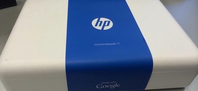 HP Chromebook в коробке