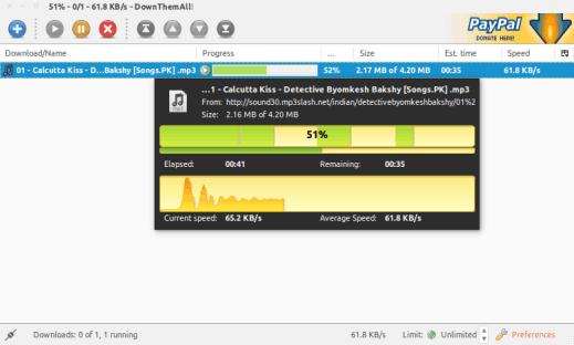 gestor de descargas downloadthemall para linux