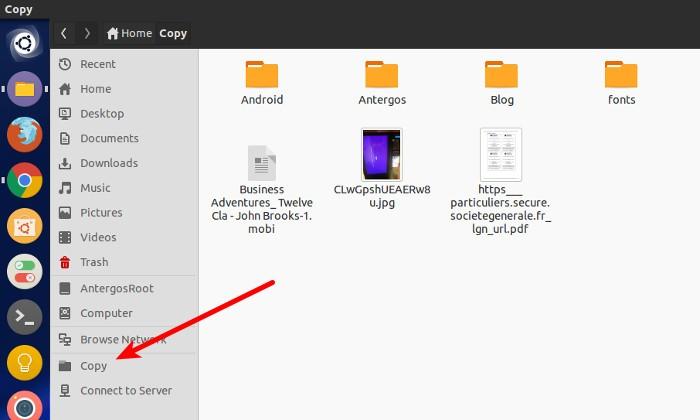 Agregar marcador en Ubuntu