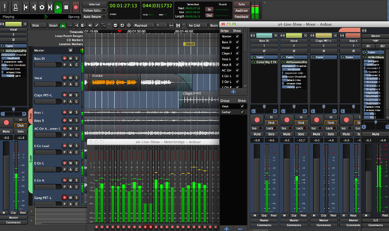 Editor de audio Ardor alternativo a Adobe Audition