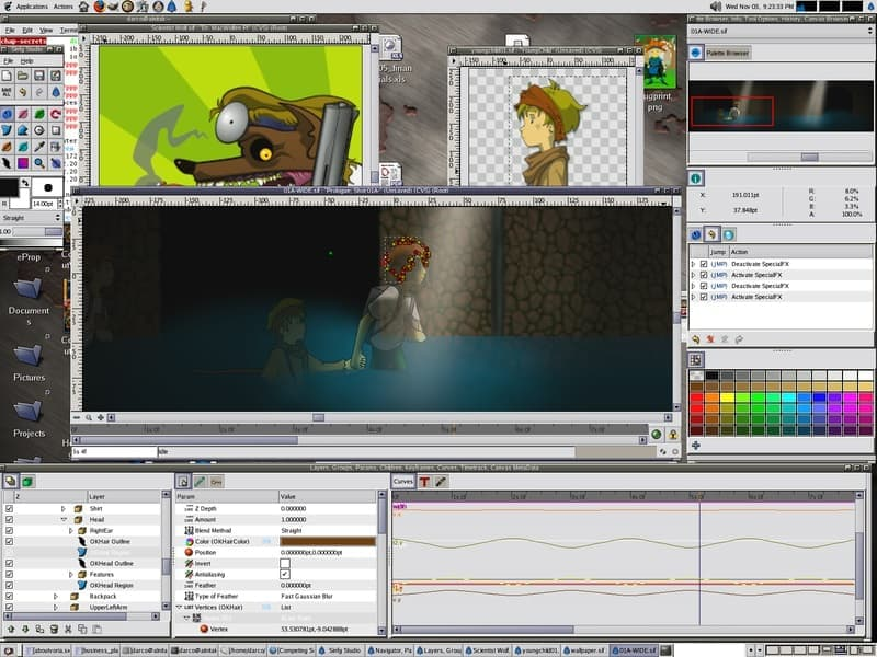 Synfig es una alternativa a Adobe Animate