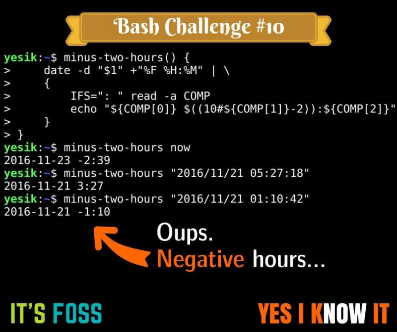 Bash scripting puzzle 10