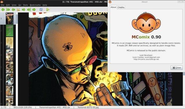 MComix просмотрщик комиксов для Linux