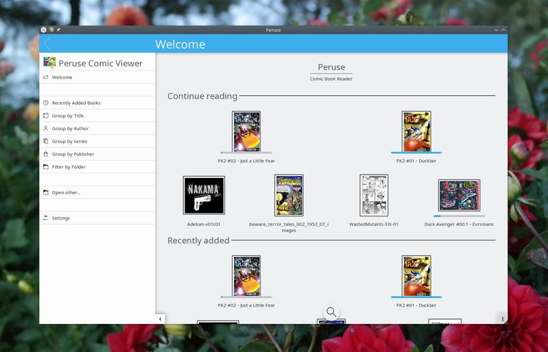 Читатель комиксов Peruse для Linux
