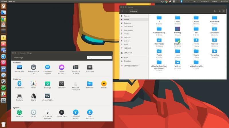 Tema del icono de La Capitane para Linux