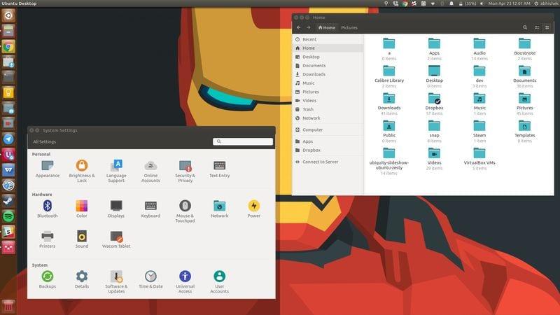 Pop iconos en Ubuntu