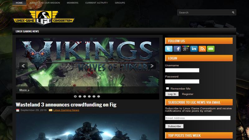 LinuxゲームコンソーシアムのWebサイト