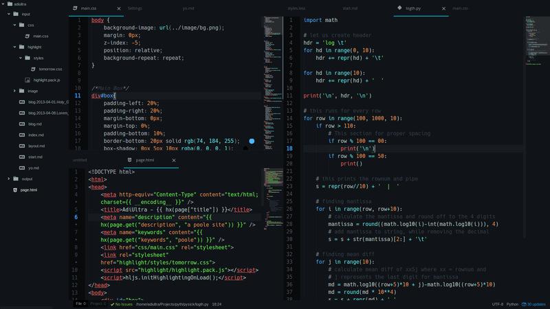 Atom se considera un excelente editor de código para Linux