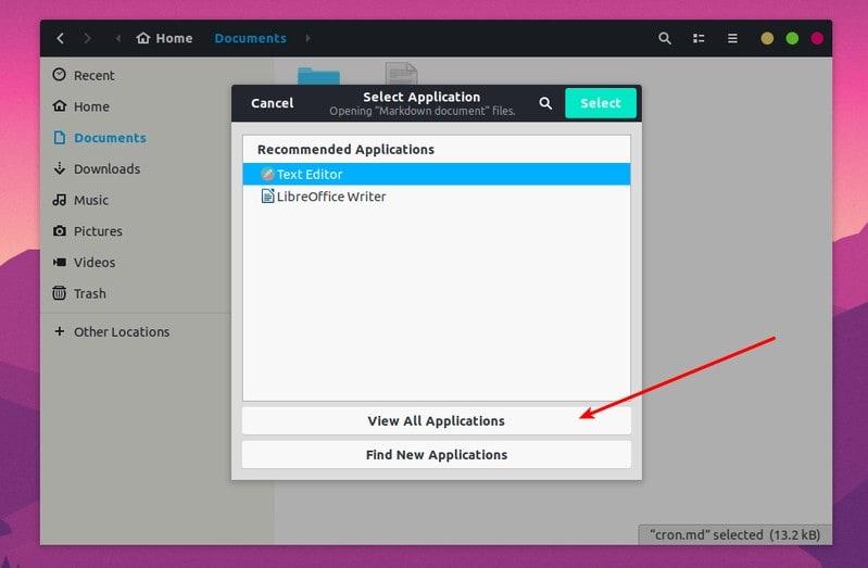 Cambio de la aplicación predeterminada Ubuntu