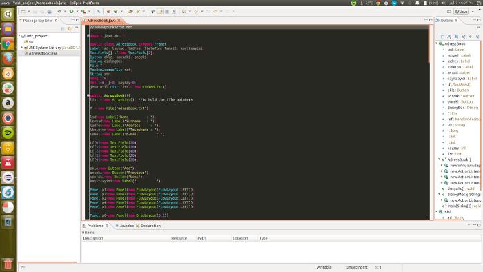 Ubuntu LinuxのEclipse用の崇高なテキストテーマ