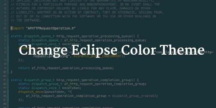 Eclipseカラーテーマ変更チュートリアル