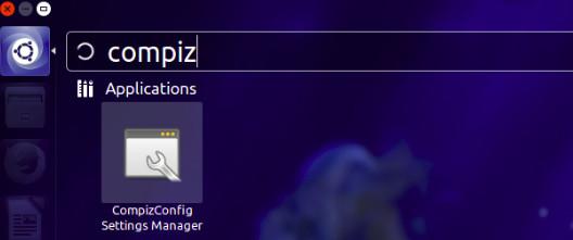 Administrador de configuración de configuración de Compiz Ubuntu 14.04