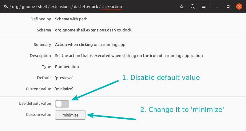 Habilite minmize para hacer clic en Ubuntu usando el editor dconf