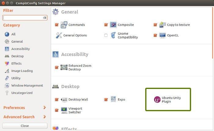 Habilite la función minimizar al hacer clic en Ubuntu 14.04