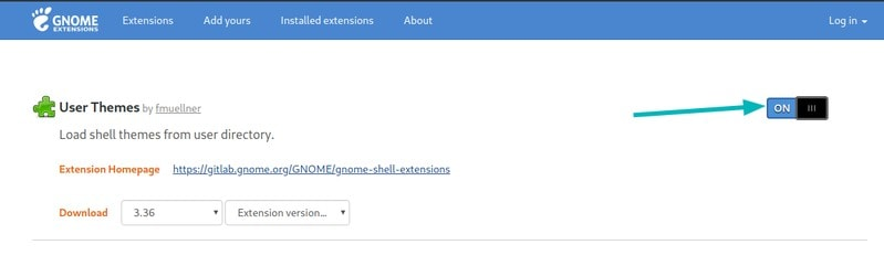 Habilitar gnome de temas de usuario