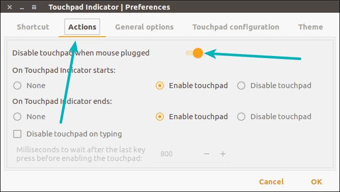 Deshabilita automáticamente el panel táctil cuando el mouse está conectado a Ubuntu
