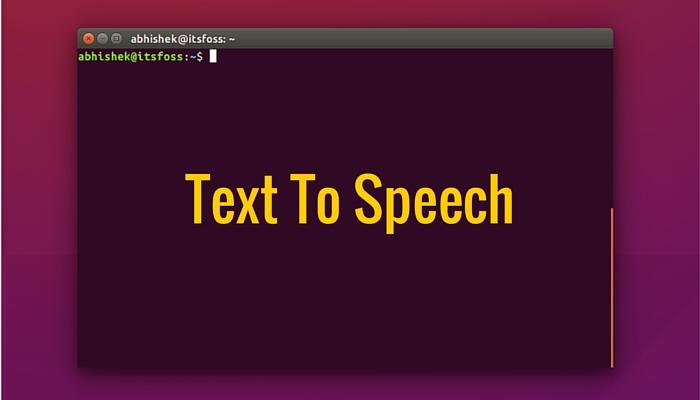 Инструмент преобразования текста в речь в Linux