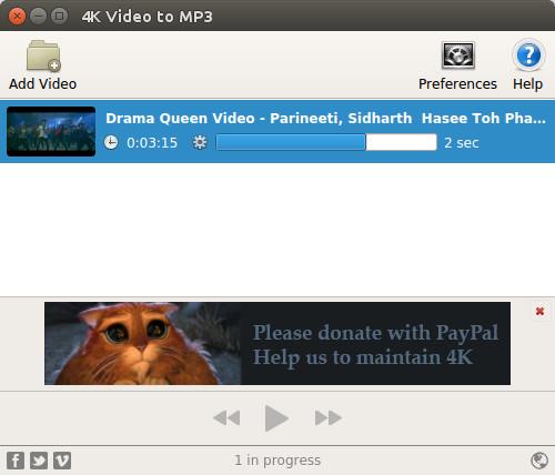 конвертирование видео в MP3 в Ubuntu Linux