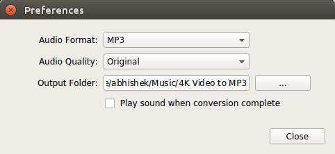 Использование 4K видео в MP3 в Ubuntu