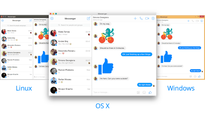 Aplicación de escritorio Facebook Messenger