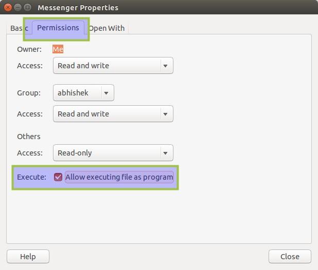 Aplicación de mensajería de Facebook Linux