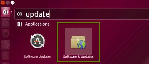 Configuración de actualización de software de Ubuntu