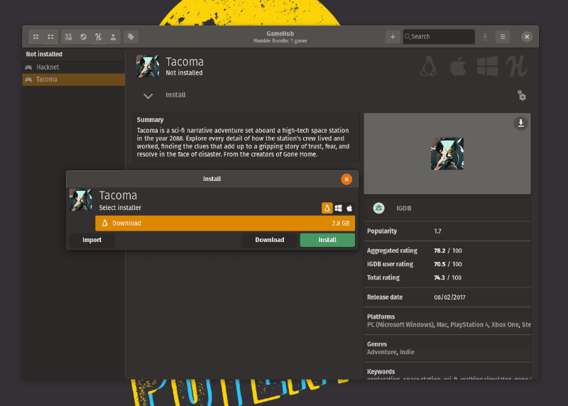 Instalar Gamehub Linux