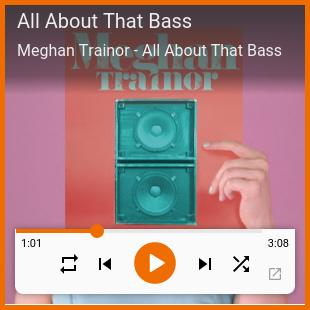 Mini reproductor de Google Play Music Desktop Player