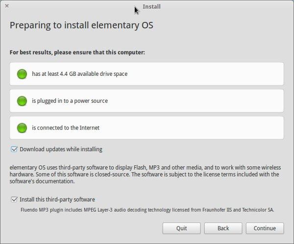 Instalación de sistema operativo elemental