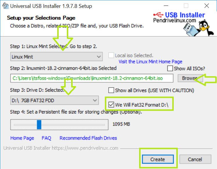 Crear USB en vivo de Linux Mint en Windows