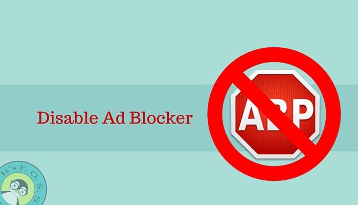 Отключите блокировщик рекламы в своем любимом блоге Linux