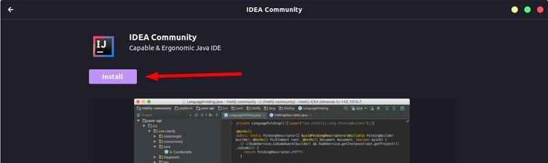 Software Centerを介してUbuntuにIntelliJ IDEAをインストールする