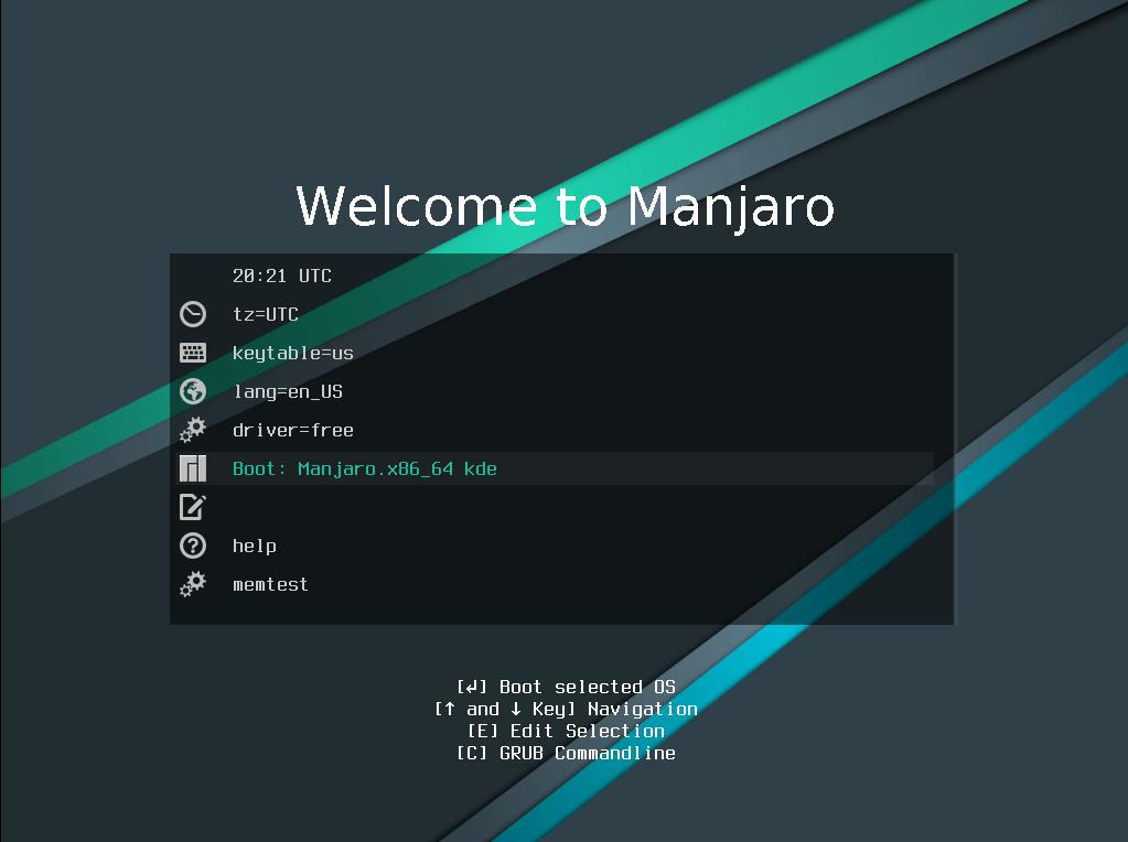 установщик manjaro linux grub