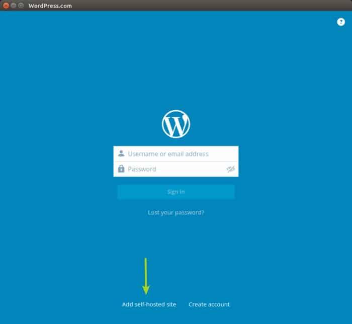 Aplicación de escritorio de Wordpress en Ubuntu Linux