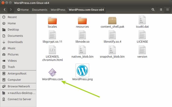 Aplicación de escritorio de Wordpress en Linux