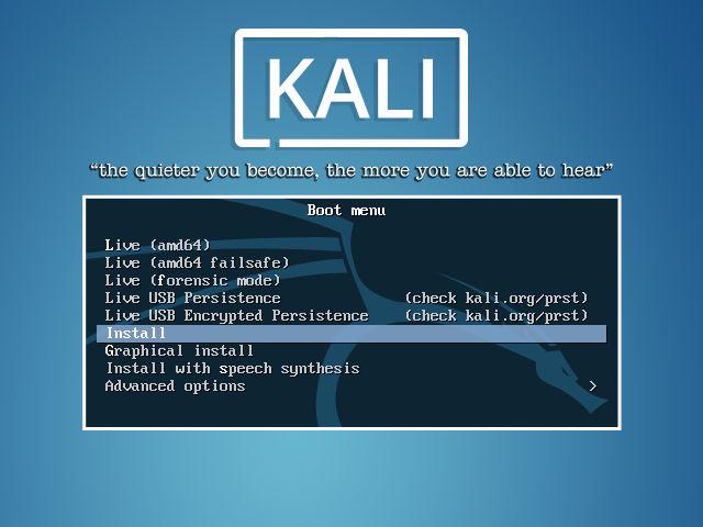 Кали загрузочный экран Linux