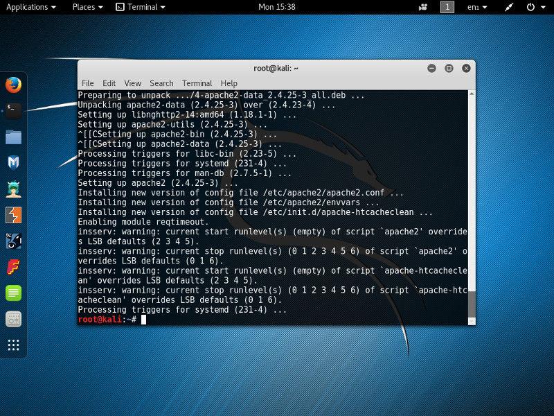 Apache сервер в Kali Linux