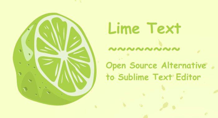 Alternativa de código abierto de texto de cal del editor de texto sublime