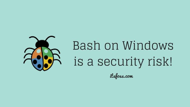 Bash en Windows es un riesgo de seguridad, dice experto