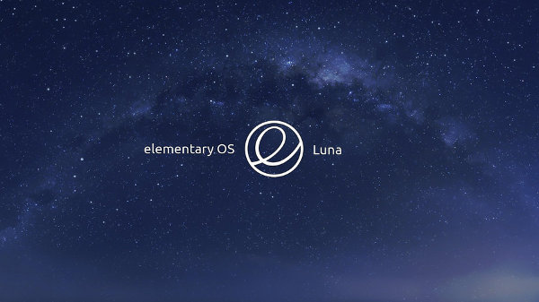 Hermoso logotipo de Elementary OS Luna