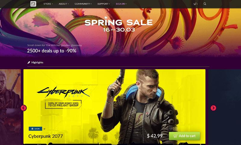 Captura de pantalla de Gog