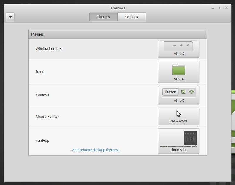 Personalización de escritorio en Linux Mint